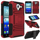 For Kyocera Hydro View C6742 Phone Case Hybrid Shockproof Holster Stand Cover