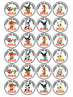 24 x Edible Personalised Icing Rice Paper Bing Birthday Children Cupcake Toppers