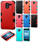 For Kyocera Hydro Shore IMPACT TUFF HYBRID Case Skin Phone Cover + Screen Guard