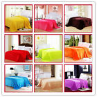 Hot Multiple Size Warm Microplush Throw Blanket Rug Plush Fleece Bed Quilt Sofa