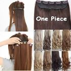 UK Real Thick One Piece Long Straight Wavy Clip In Hair Extension Extensions FFO