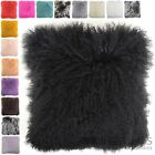 Snugrugs - Mongolian Long Curly Wool Sheepskin Cushion / Pillow & Cushion Inner