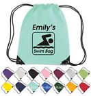 Personalised Swimming Drawstring Bag. Swim Kit Bag 02
