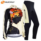 Womens Cycling Jersey Tights Outfits Jackets Pants Kit Bicycle Sports Wear Sets