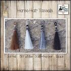 "HANDCRAFTED 4"" HORSE HAIR SHU-FLY TASSEL FOR WESTERN SADDLE~TACK~HARNESS"