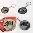 1PC Cool HBO Game of Thrones House Stark Head Pendant Metal Keyring Keychain