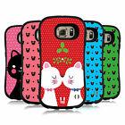 HEAD CASE DESIGNS CHRISTMAS CATS HYBRID CASE FOR SAMSUNG PHONES