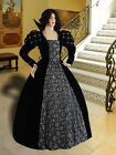 Medieval Renaissance Dress Elizabethan Queen or Noble Clothing Victorian Costume