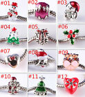 2016 Christmas 2pcs Silver Charm Beads Fit S925 European Charm Bracelet Chain