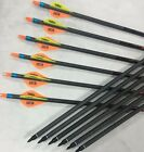 Target Hunting Arrows Bulk Archery Bow Compound Recurve Head Carbon Fiberglass