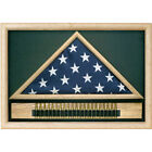 Memorial Flag Case with Cartridge Belt Hand Made By Veterans
