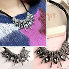 Fashion Women Pendant Chain Crystal Choker Chunky Bib Statement Necklace