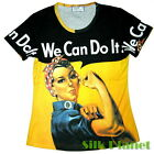 WE CAN DO IT Rosie the Riveter WWII PAINTING T SHIRT POP ART PRINT PIN UP POSTER
