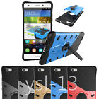Rubber Dust Armor Case Cover +360°Swivel Stand Bracket For Huawei LG Sony Xperia