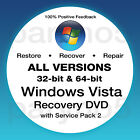 #1 WINDOWS VISTA Recovery Disc Install Reinstall Restore DVD Disk ALL IN ONE