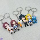Fairy Tail Anime Figures Key Rings Cosplay KeyChain UK Stock