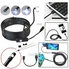 5.5mm Android Endoscope Waterproof Snake Borescope USB Inspection Camera 6...