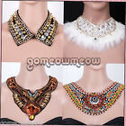 Chic Punky Funky Bohemian Beaded Faux Collar Necklace Peter Pan False Choker
