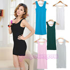 Cool Womens Waistcoat Skinny Vest Dress Sleeveless T-Shirt Long Tank Tops