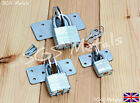 'Mini' Hasp & Laminated Padlock 30, 40 & 50mm Doors Gates Tool Boxes Shed Doors