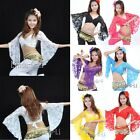 Sexy Belly Dance Lace Blouse Top Belly Dance Costume shipping From USA 8/3