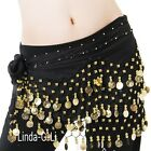 Внешний вид -  Belly Dance Hip Skirt Scarf Wrap Belt Gold Coins Dancing  costume 9 Colors 5/3