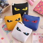 New Funny Cat Eye Cute Cartoon Imitation Leather Wallet Portable Bag Coin Purse