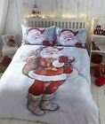 Father Christmas Santa Claus Xmas Quilt Cover Bedding Single Double King Super