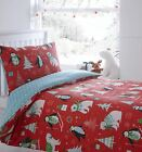 Frosty Friends Christmas Duvet Cover Winter Xmas Theme Bedding