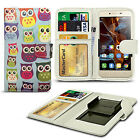 For Lenovo A916 - Printed Design PU Leather Wallet Case Cover