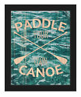 Click Wall Art 'Paddle Your Own Canoe - Rustic' Framed Graphic Art