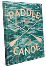 Click Wall Art 'Paddle Your Own Canoe' Graphic Art on Wrapped Canvas