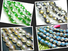 12MM Gold Foil & Silver Foil Lampwork Glass Oblate Loose Beads 33PCS G1213