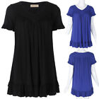 Fashion Women's Loose Casual Short Sleeve V-Neck Cotton Tee-Shirt Blouse Top New