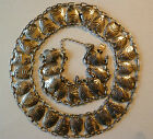Vintage HECTOR AGUILAR 940 Silver NECKLACE  BRACELET Very Nice Taxco Mexico