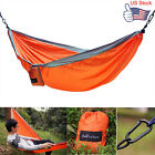 Double Person Hammock Camping Outdoor Portable Travel Nylon Fabric Parachute Bed
