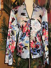 JS COLLECTIONS NWT $154 16W multi colored flowered shirt women's blouse  jacket