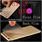 10/5/3PCS HD LCD Clear Front +Rear PVC Screen Protector Film For iPhone 7 / Plus