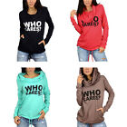New Women Cotton Hoodie Letter Printed Sweatshirt Long Sleeve Casual Pullover
