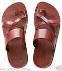 Men Jesus Sandals Camel Genuine Leather Greek Roman Shoes US 5-12 EU 36-46