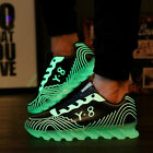 New Casual Luminous Glowing Sneakers Sports Men Women Fluorescence Lace Up Shoes