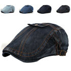 Stylish Adult Wash Denim Peaked Newsboy Hats Women and Men C