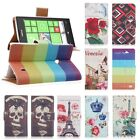 Folio Printed Leather Cards Wallet Case Cover Stand Skin fr Nokia Lumia 520 N520