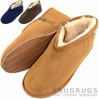 Mens Sheepskin Zipper Slipper Boots / Booties with Rubber Sole