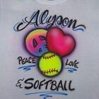 SOFTBALL FASTPITCH AIRBRUSH PERSONALIZED T SHIRT YOUTH & ADULT SIZES