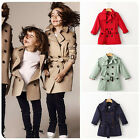 Baby Girls Trench Coat Plaid  Breasted with Belt Casual Baby Girls Jacket Coats