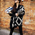 Women's Fashion Sale Batwing Long Sleeve Geometric Cardigan Sweater High Quality