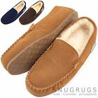 Mens Luxury Sheepskin Slippers / Loafers with Rubber Sole