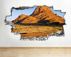H238 Red Mountain Scenic Desert  Smashed Wall Decal 3D Art Stickers Vinyl Room