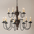 Handcrafted Custom Country Two Tier Chandelier - MADE IN THE USA